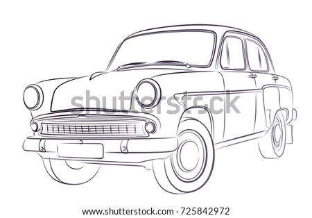 Car Sketch Ez Canvas