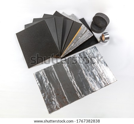 Car sound insulation materials. Adhesive Insulation Sponge, Auto Sound Insulation Rubber Sponge Adhesive, Aluminum Foil Coated Rubber Tape, Car Sound Insulation Rubber Foam.