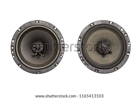 Car speakers isolated on white #1165413103
