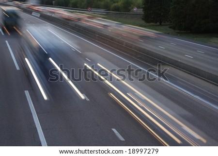 car speed - stock photo