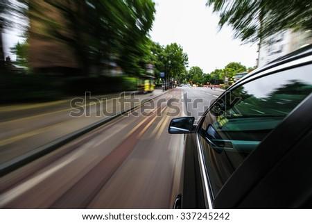 Car speeding. #337245242