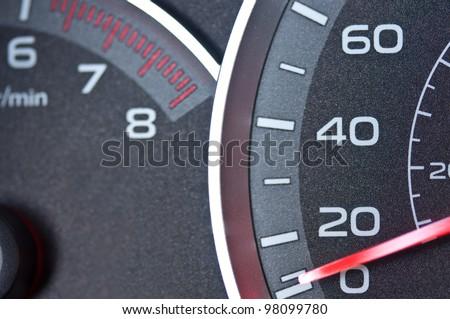 Car speedometer and tachometer