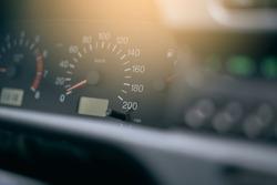Car speedometer, speed level background