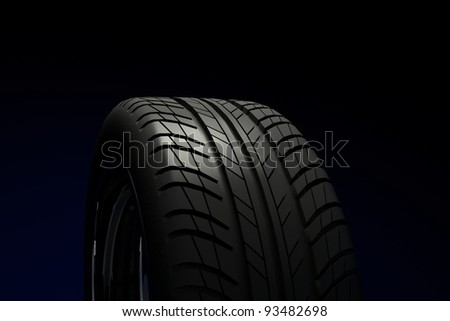 Car tire. High resolution render.