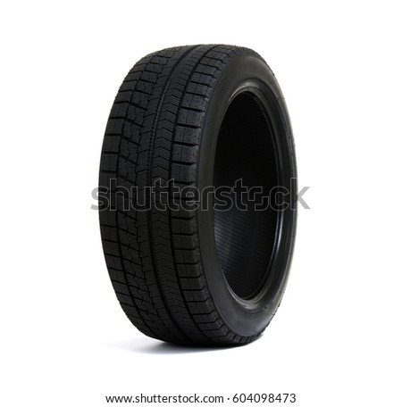 Car tire isolated on white background. #604098473