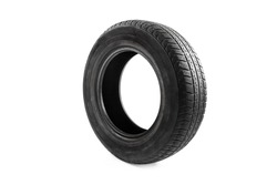 Car tire isolated on white background. Objects isolated
