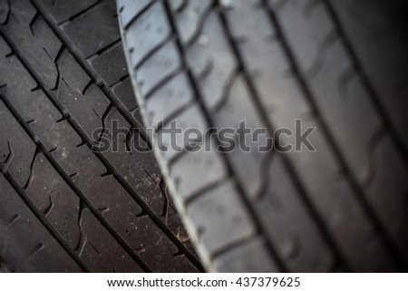 car tire wheel background. car wheel protector. shallow depth of field