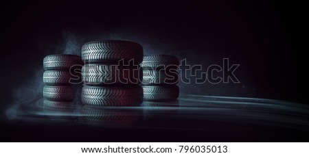 car tires pile - Shutterstock ID 796035013