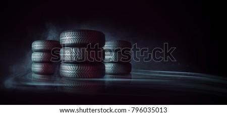 car tires pile #796035013