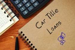 Car Title Loans phrase on the sheet.