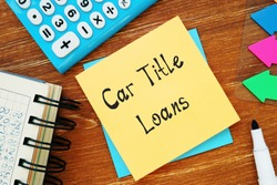 Car Title Loans sign on the page.