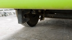 car towing hook instaled on the truck chasis.