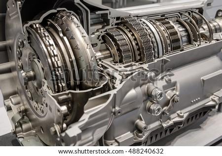 Car transmission cutaway side view #488240632