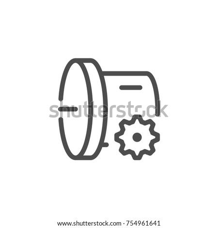 Car transmission line icon isolated on white