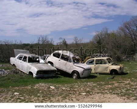 car vehicle road accident broken #1526299946