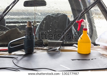 Car wash equipment used for washing car in garage