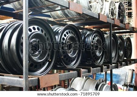 Car wheel. close up for design work