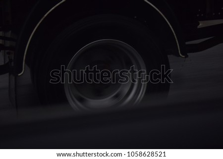 Car wheel closeup #1058628521