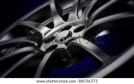 Car wheel. 3d illustration