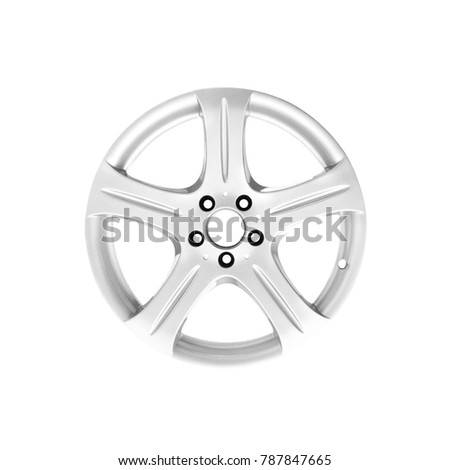 Car wheel from wheel on white background #787847665