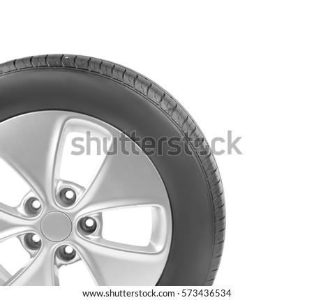 Car wheel, isolated on white #573436534
