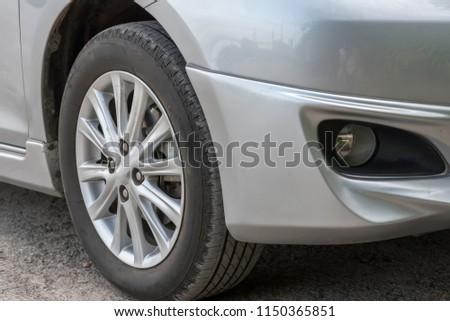 Car wheel on a car #1150365851
