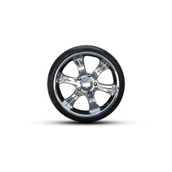 Car wheel on a white background. Isolated. Auto parts. Details