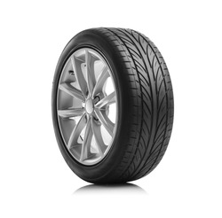 Car wheels isolated on a white background.