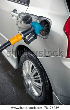 car with a gas pump