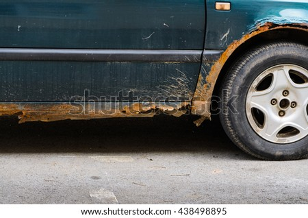 Car with Rust and Corrosion, damage from road salt