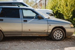 Car with rust and surface corrosion. Body repair. Rust removal.