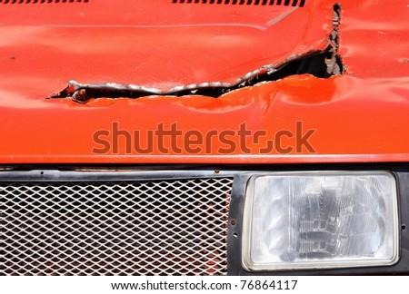car wreck - stock photo