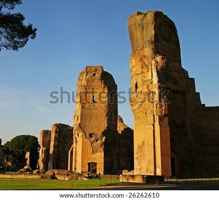 Caracalla baths in the heart of Rome