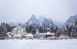 Caraiman Monastery in Bucegi Mountains, Romania, Europe