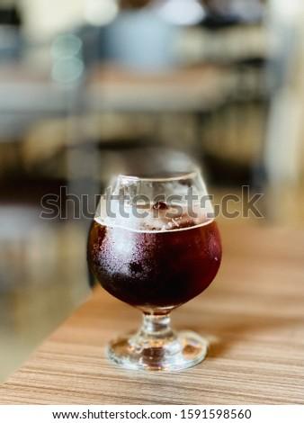 Carajillo: expreso coffee and Licor 43 Foto stock ©