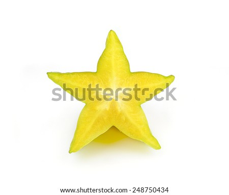 carambola, star fruit isolated on white background Сток-фото ©