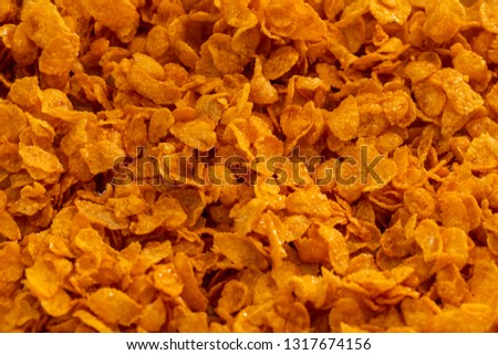 Caramel cornflakes and cereal #1317674156