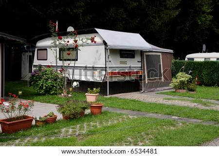 Caravan at the campsite