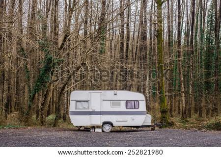 caravan in a park