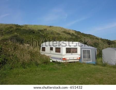 caravan in the dunes