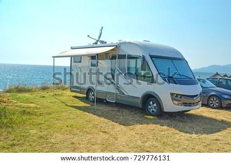 caravan sea holidays summer #729776131