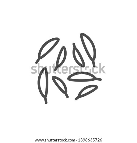 Caraway line icon isolated on white