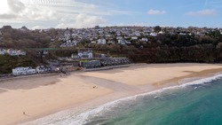 Carbis Bay in Cornwall where the G7 Summit will be taking place in June