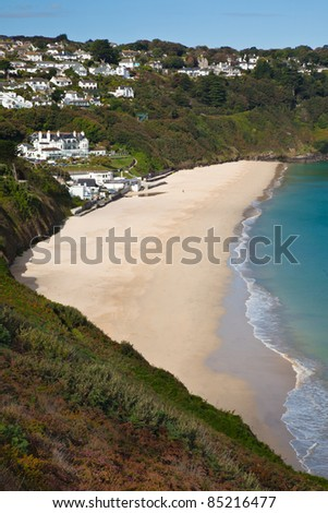 Carbis Bay in St Ives Cornwall