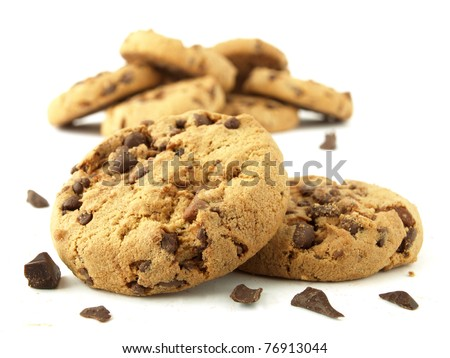 Carbohydrate foods (chocolate chip cookies)