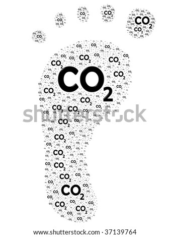 Carbon footprint, carbon dioxide concept