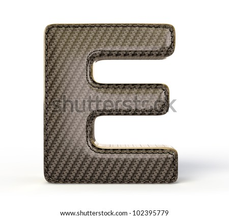 Carbon letter isolated on a white background.