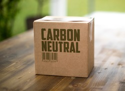 Carbon neutral shipping delivery box