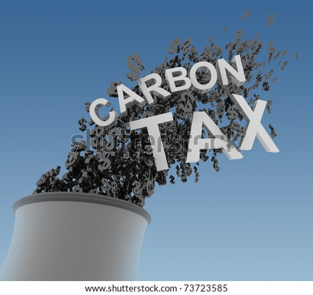 Carbon Tax - stock photo