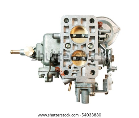 carburettor for automobile. isolated on white  with clipping path